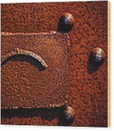 Wet Rust Wood Print by Bob Orsillo