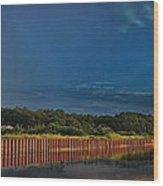 Wetland Barrier Wood Print