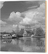 Wey Canal Ripley Surrey Wood Print