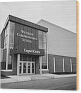 weyburn comprehensive school cugnet centre Saskatchewan Canada Wood Print