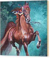 Wgc Courageous Lord Wood Print by Jeanne Newton Schoborg