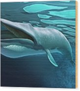Whale, Artwork Wood Print