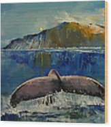Whale Song Wood Print
