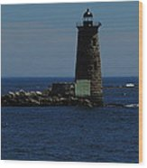 Whaleback Light Wood Print