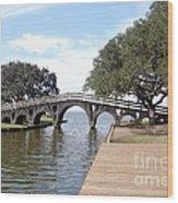 Whalehead Club Bridge Wood Print