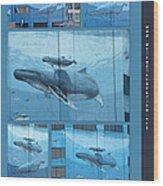 Whaling Wall 42 -  East Coast Humpbacks - Original Painting By Wyland Wood Print