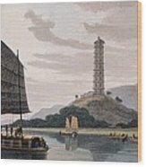Wham Poa Pagoda, With Boats Sailing Wood Print