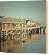 Fishermans Wharf Monterey California Wood Print