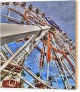 Wharf Wheel Wood Print