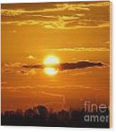 What Do You See Sunset Wood Print