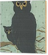What The Who? Owls  Wood Print