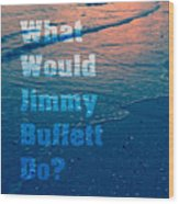 What Would Jimmy Buffet Do Square Wood Print