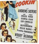 Whats Cookin, Us Poster, Top From Left Wood Print