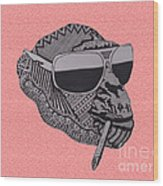 Whatssup Dawg Pink Wood Print