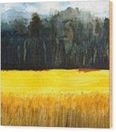 Wheat Field 1 Wood Print