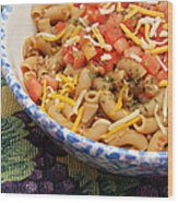 Wheat Pasta Goulash Wood Print by Andee Design