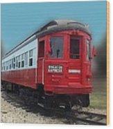 Wheaton Express Wood Print