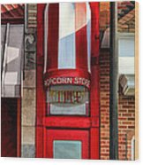 Wheaton Little Popcorn Shop Panorama Wood Print