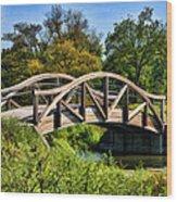 Wheaton Northside Park Bridge Wood Print