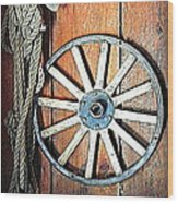 Wheel An Rope Wood Print