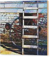 Wheel And Ladder Wood Print