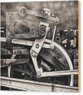 Wheel And Steam Wood Print
