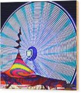 Wheel Of Light Work B Wood Print