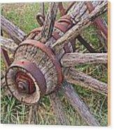 Wheel Of Old Wood Print by Marty Koch