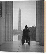 Wheelchair Vet Salute Wood Print