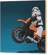 Wheelie Wood Print
