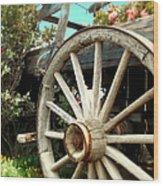Wheels And Blooms Wood Print