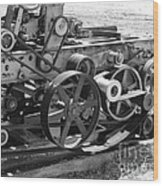 Wheels Gears And Cogs Wood Print