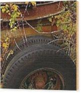 Wheels Of Autumn Wood Print
