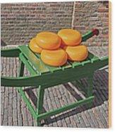 Wheels Of Dutch Gouda Cheese Wood Print by Artur Bogacki