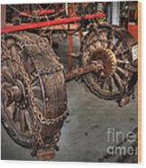 Wheels Of Old Steam Wagon Wood Print