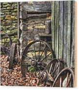 Wheels Of Time Wood Print by Benanne Stiens