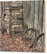 Wheels Of Time Two Wood Print