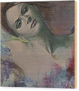 When A Dream Has Colored Wings Wood Print by Dorina  Costras