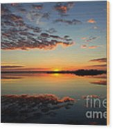 When Heaven Blankets The Earth Wood Print by Karen Wiles