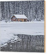 When It Snows Outside Wood Print