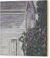 When Lilacs Last... Wood Print by Grace Keown