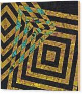 When Squares Merge Yellow Wood Print