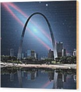 When The Galaxy Came To St. Louis Wood Print