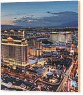 When Vegas Comes To Life Wood Print