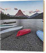 When We Row Wood Print by Jon Glaser