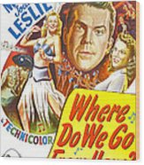 Where Do We Go From Here, Us Poster Wood Print