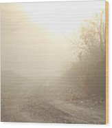 Where Does The Road Lead Wood Print by Karol Livote