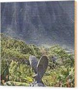 Where Eagles Fly Wood Print by Douglas Barnard