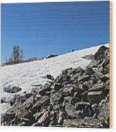 Where Snow Meets Rock Wood Print
