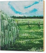 Where The Green Grass Grows Wood Print